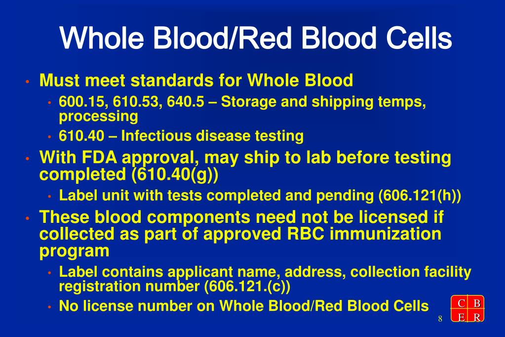 Whole Blood/Red Blood Cells