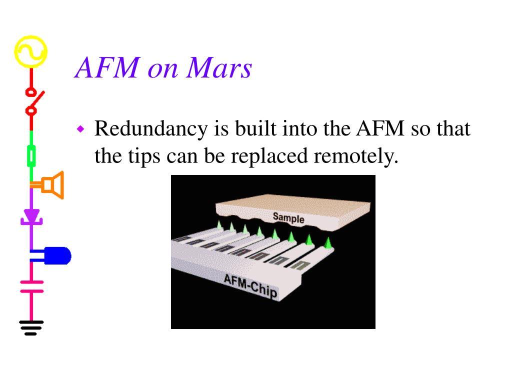 AFM on Mars