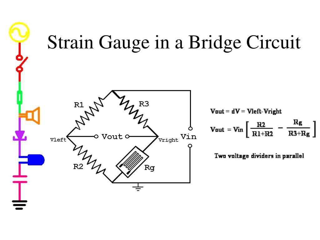 Strain Gauge in a Bridge Circuit