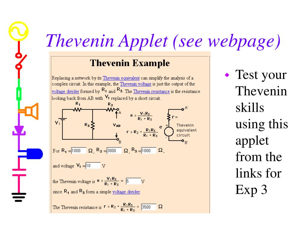 Thevenin Applet (see webpage)