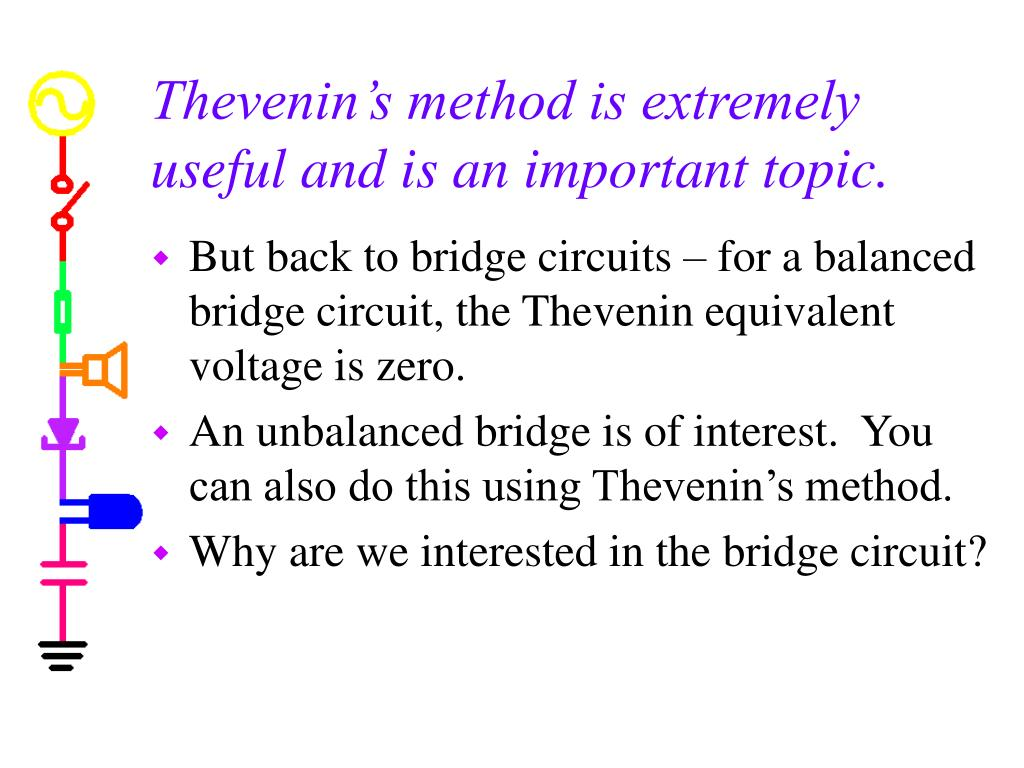 Thevenin's method is extremely useful and is an important topic.