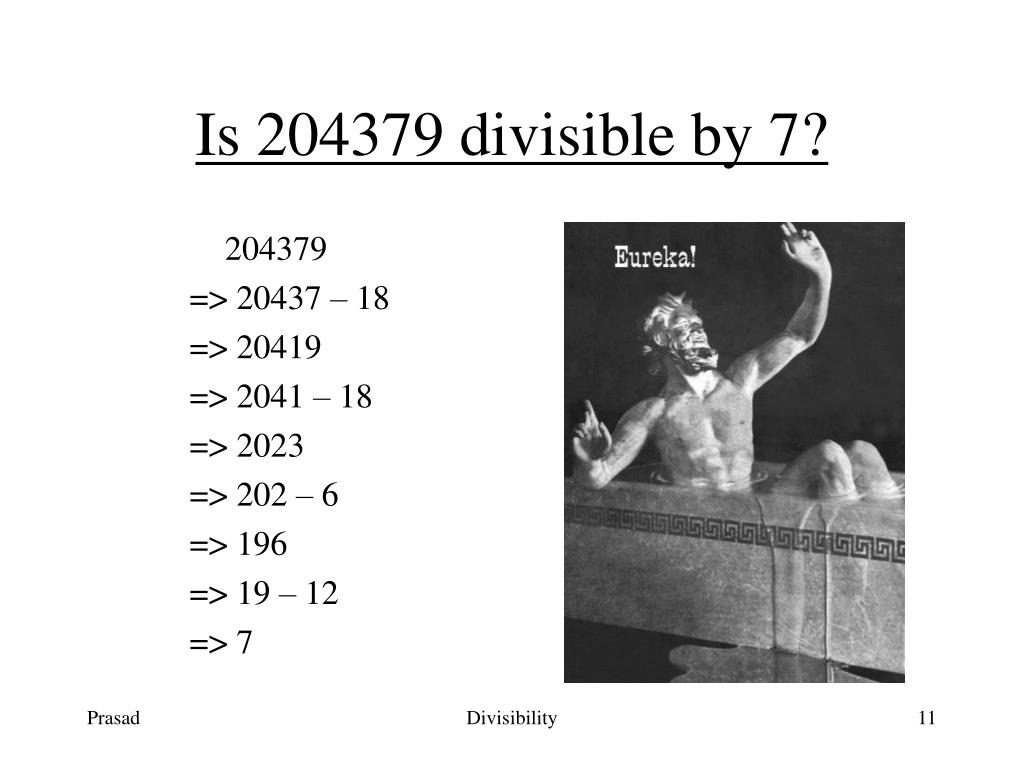 Is 204379 divisible by 7?