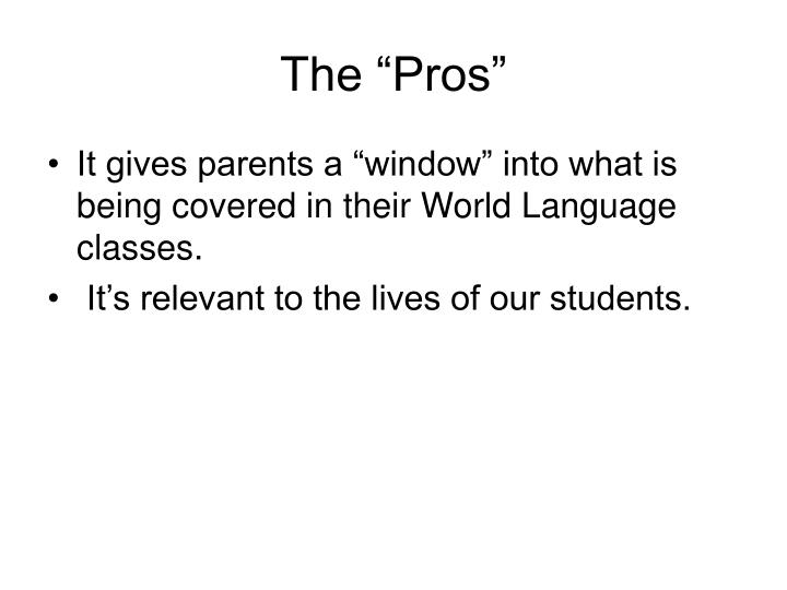 "The ""Pros"""
