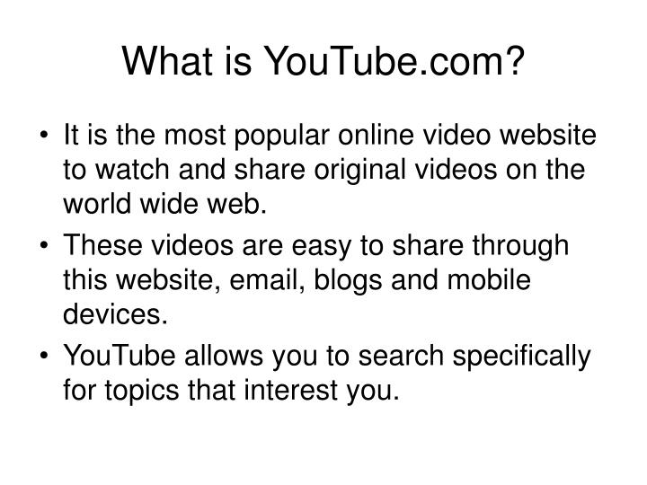 What is YouTube.com?