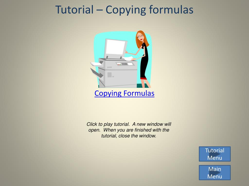 Tutorial – Copying formulas