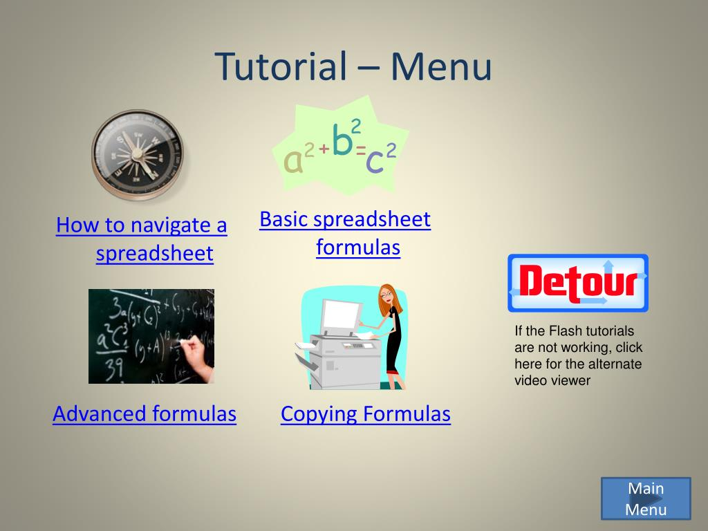 Tutorial – Menu