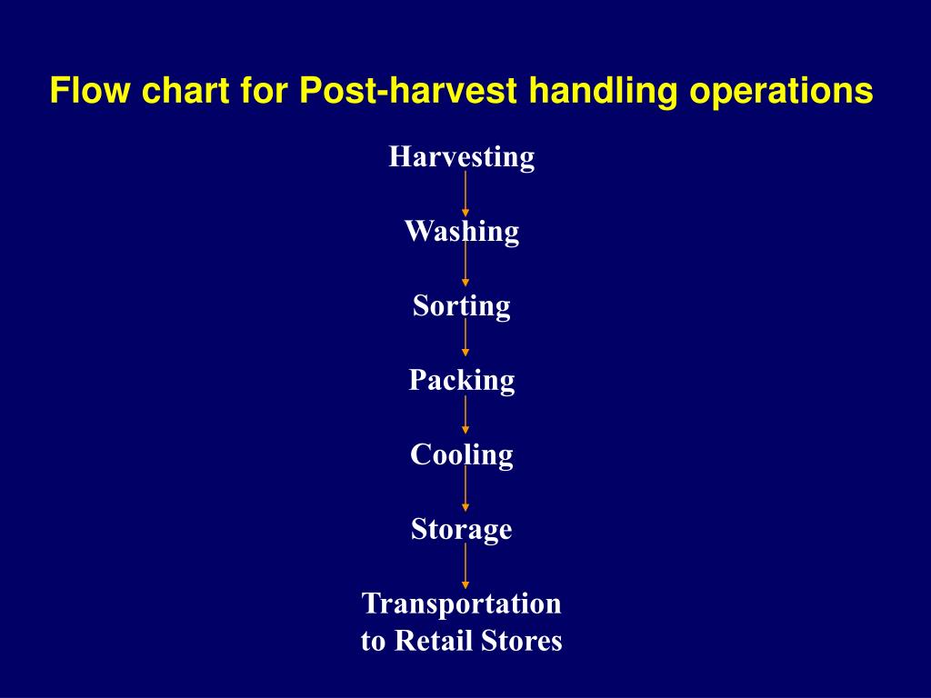 Flow chart for Post-harvest handling operations