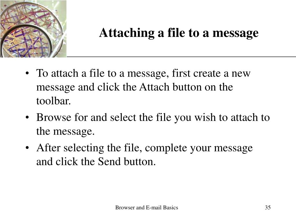 Attaching a file to a message