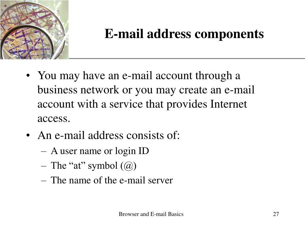 E-mail address components