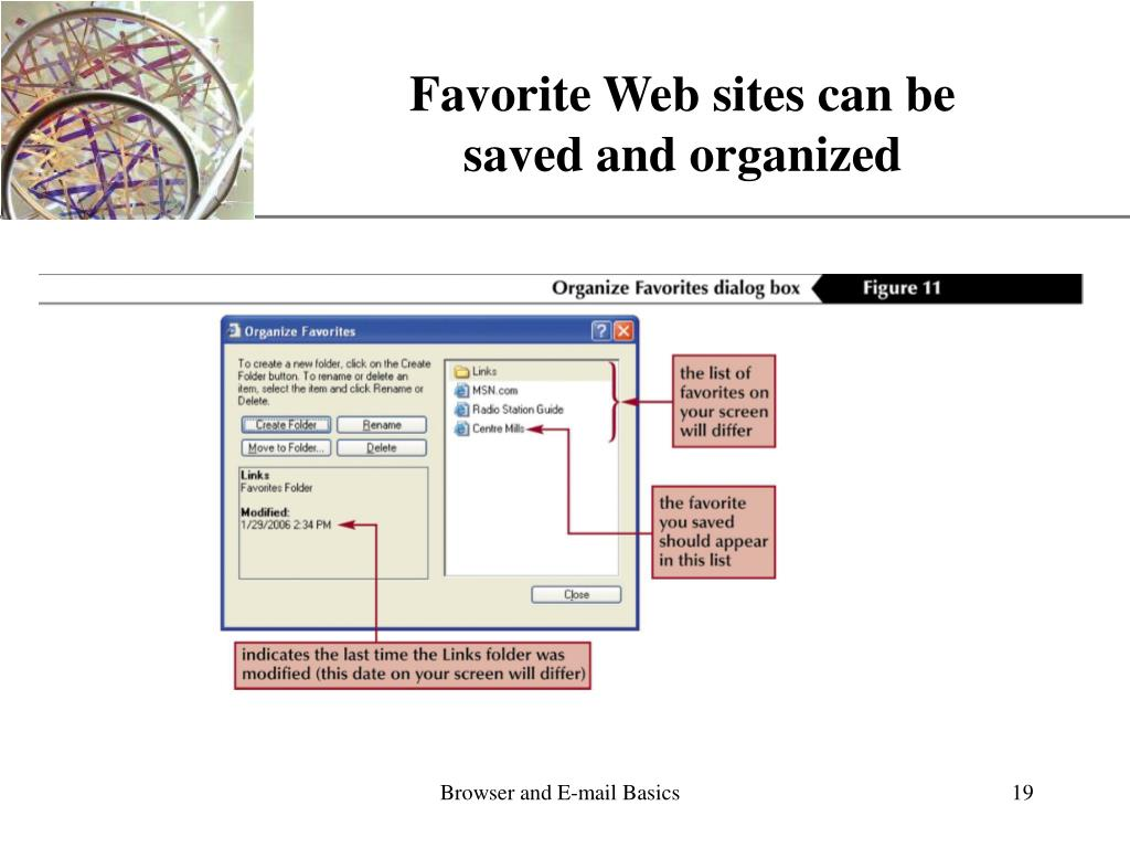 Favorite Web sites can be