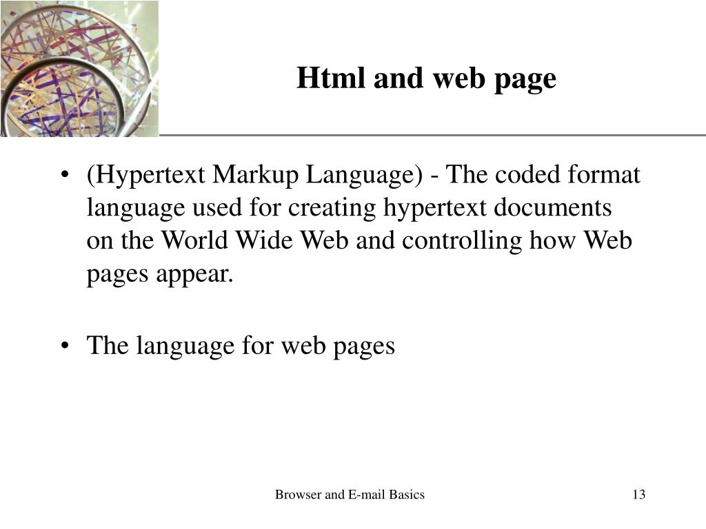 Html and web page
