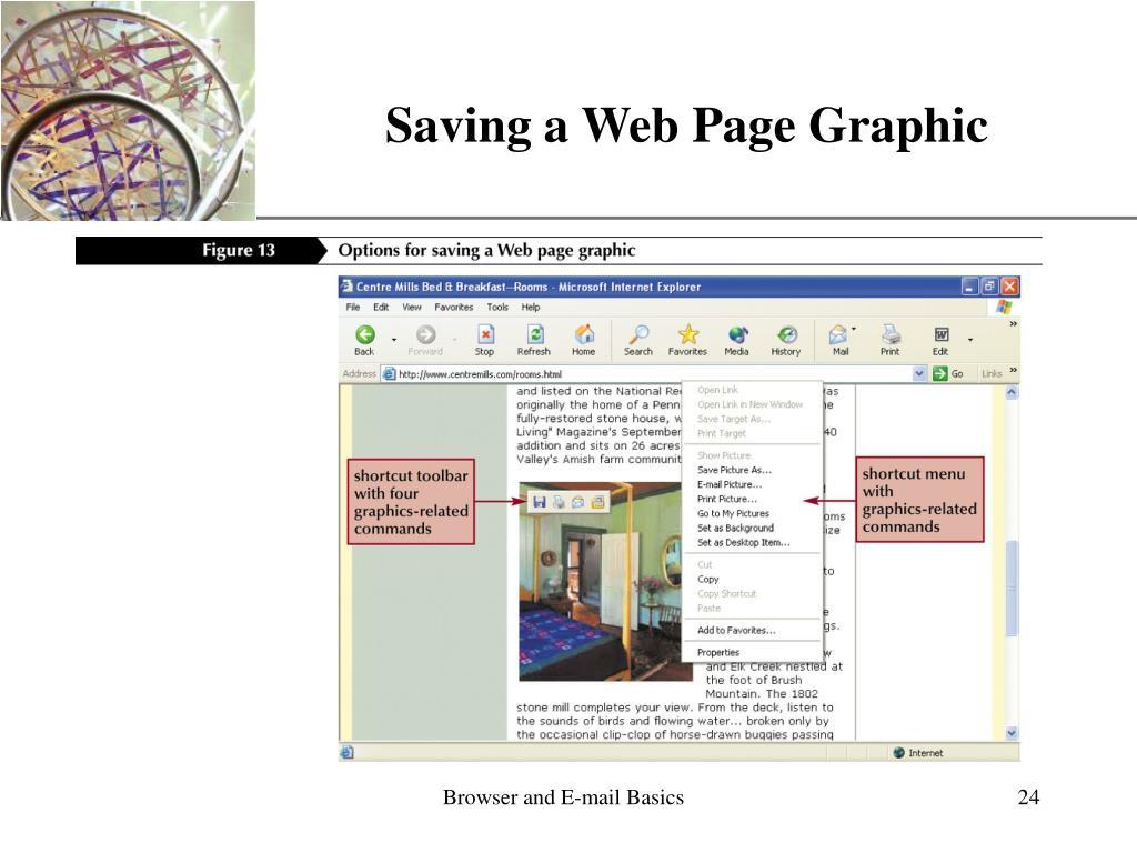 Saving a Web Page Graphic