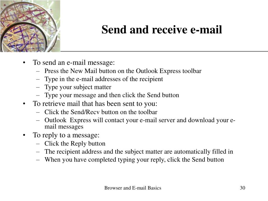Send and receive e-mail