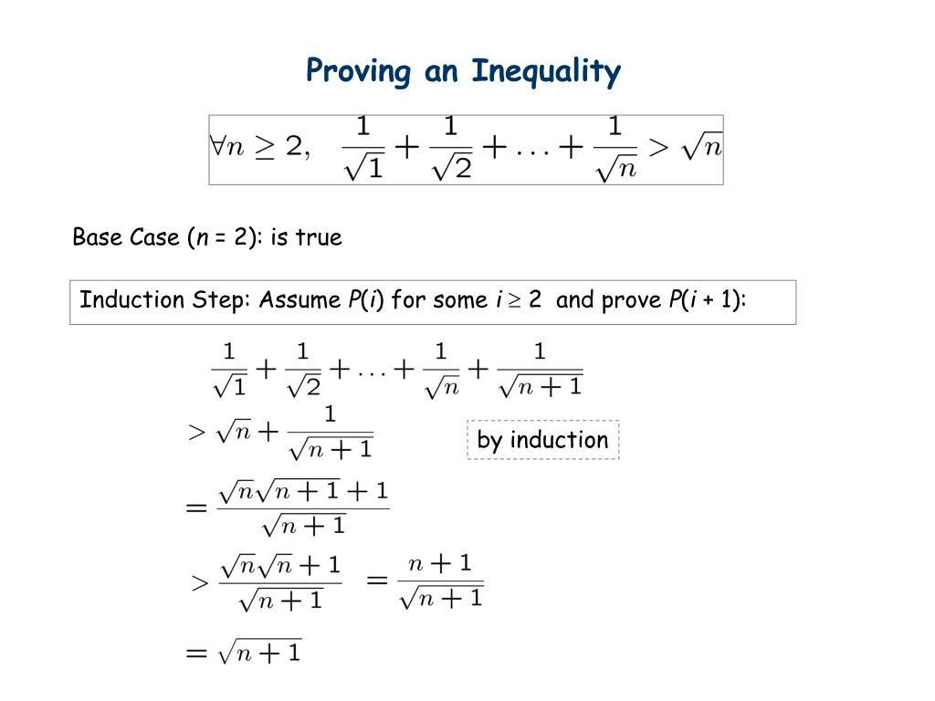 Proving an Inequality