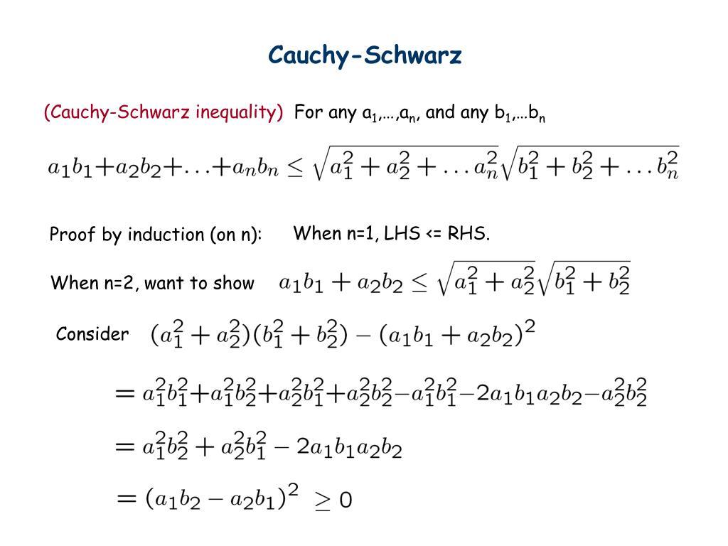 Cauchy-Schwarz