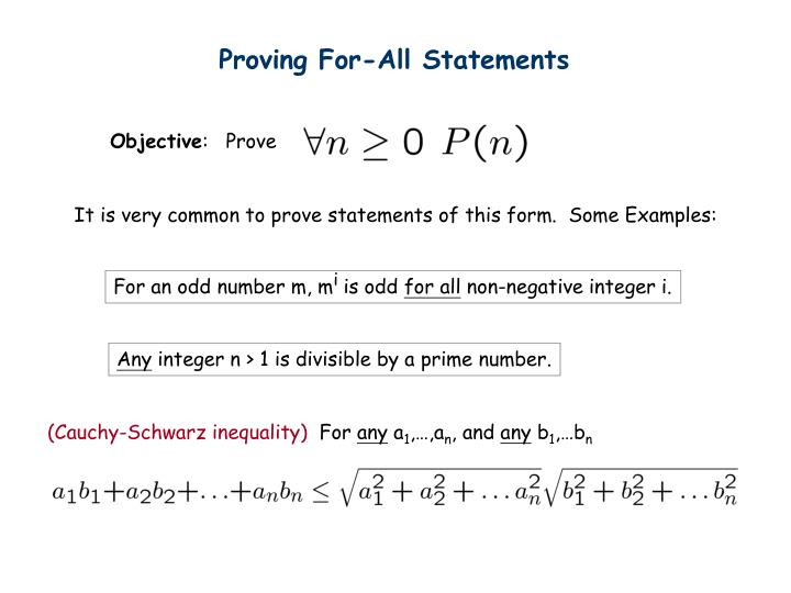 Proving For-All Statements
