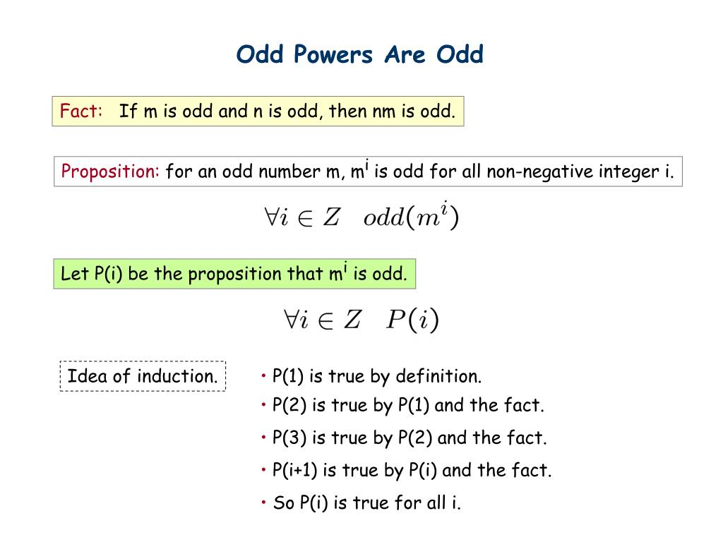 Odd Powers Are Odd