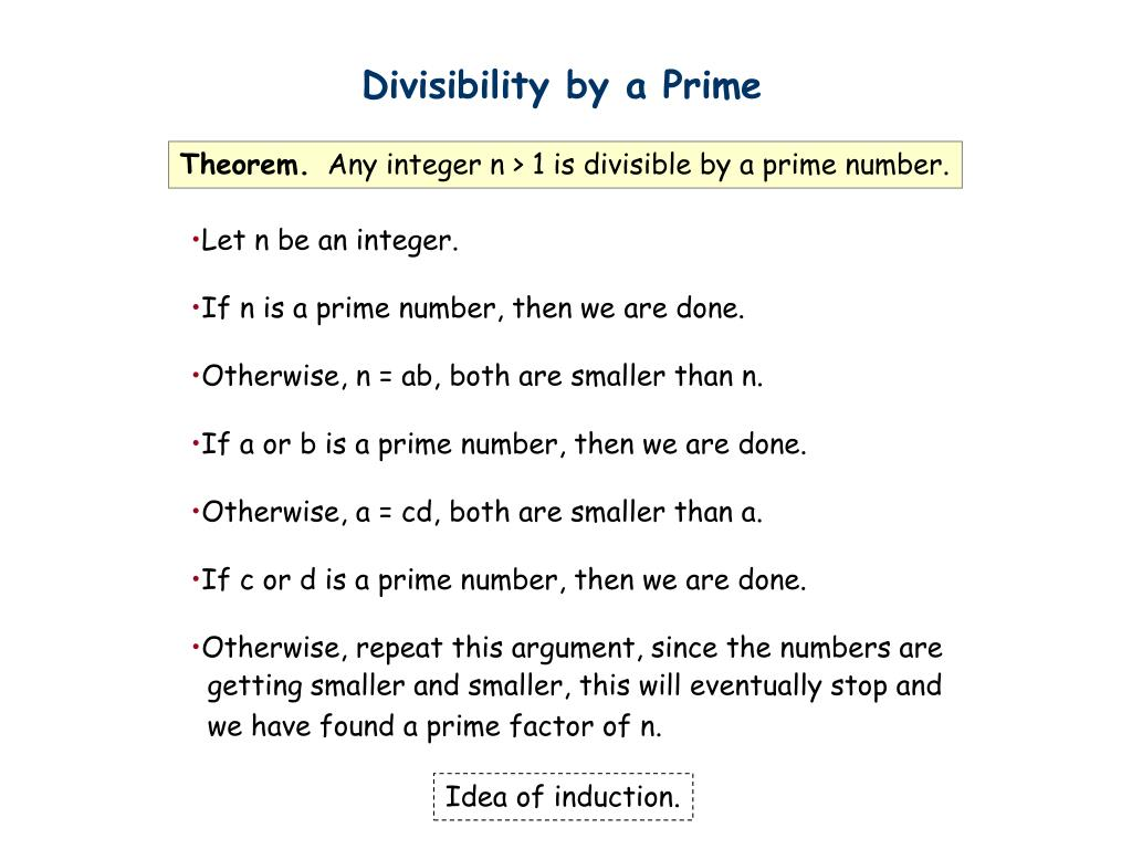 Divisibility by a Prime