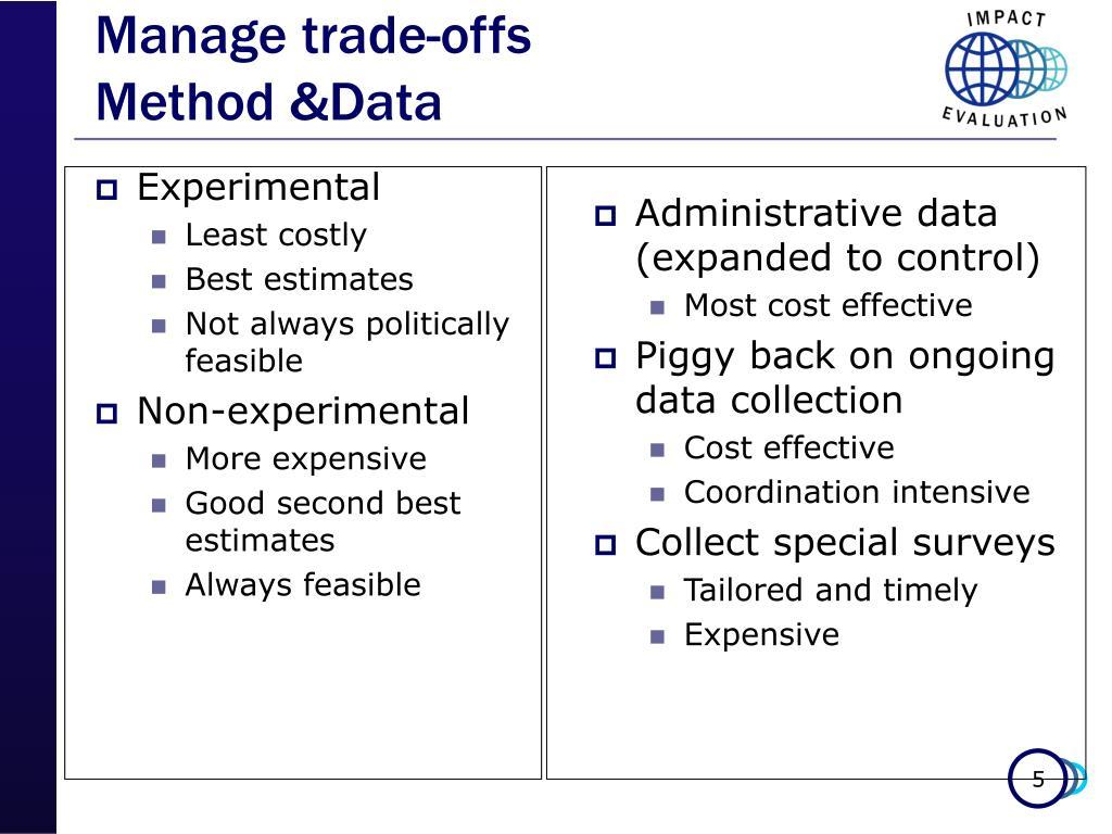 Manage trade-offs
