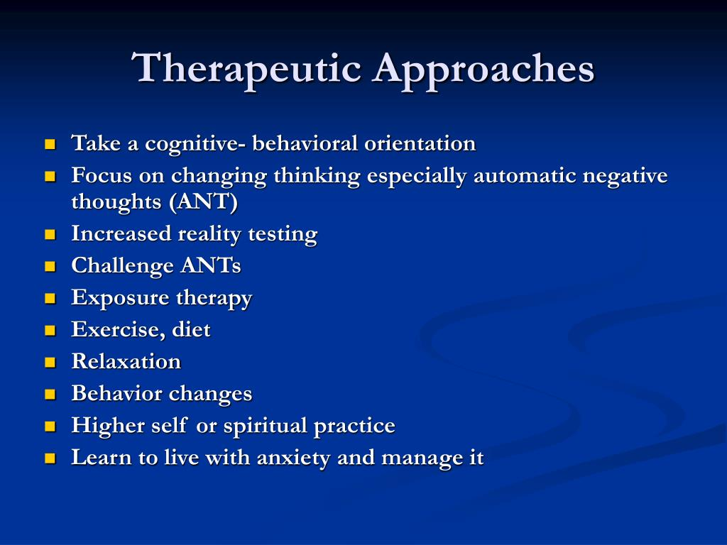 Therapeutic Approaches