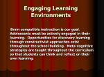 engaging learning environments