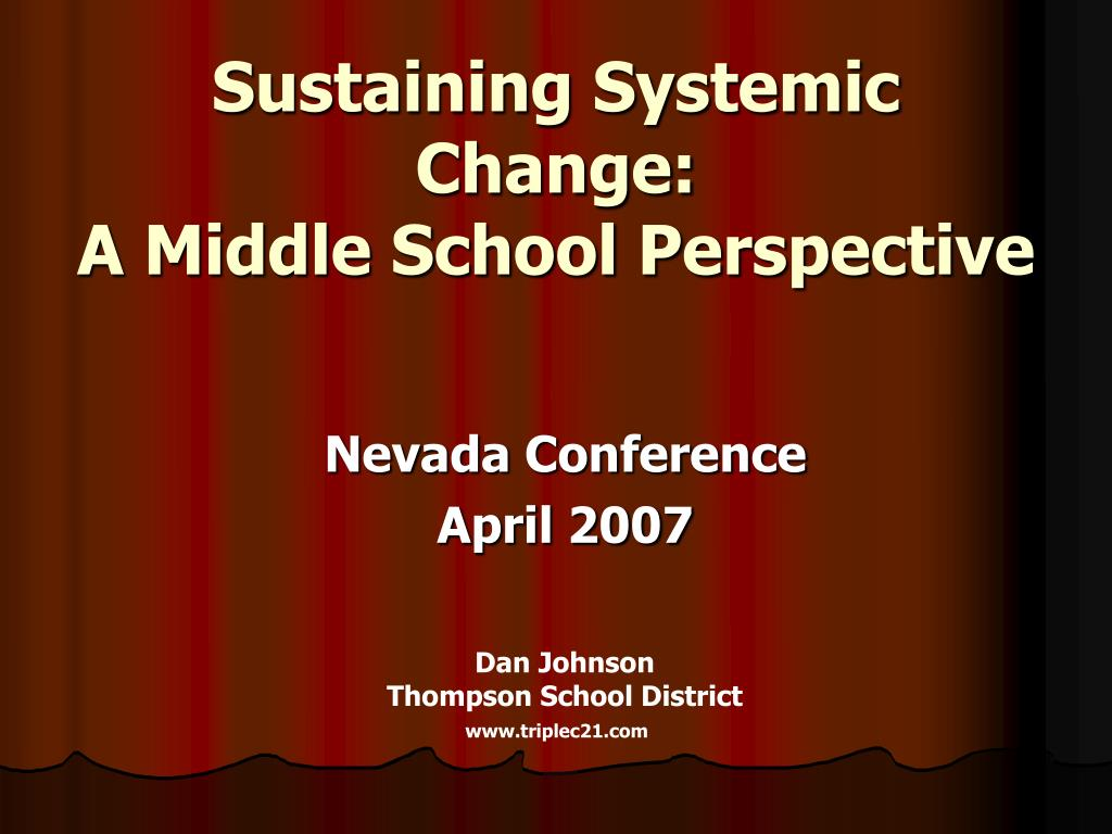 Sustaining Systemic Change: