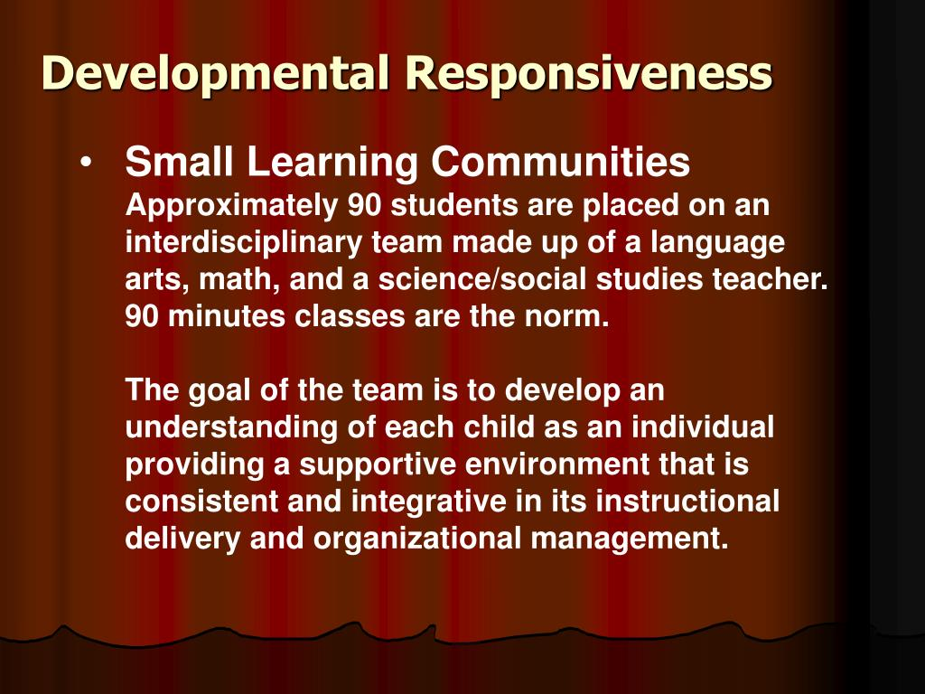 Developmental Responsiveness