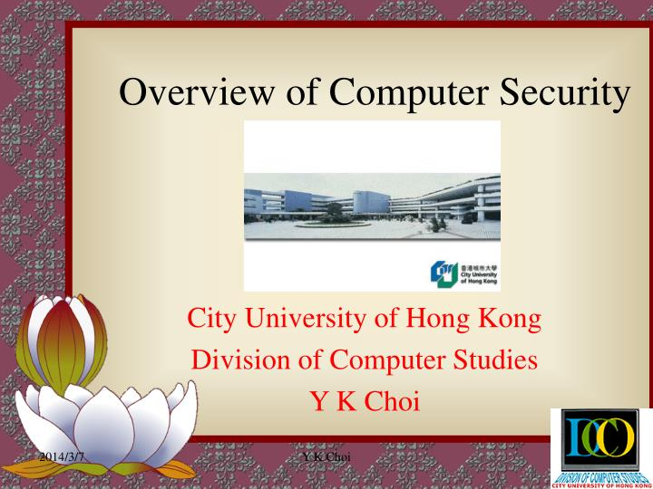 Overview of computer security