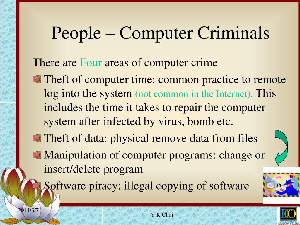 People – Computer Criminals