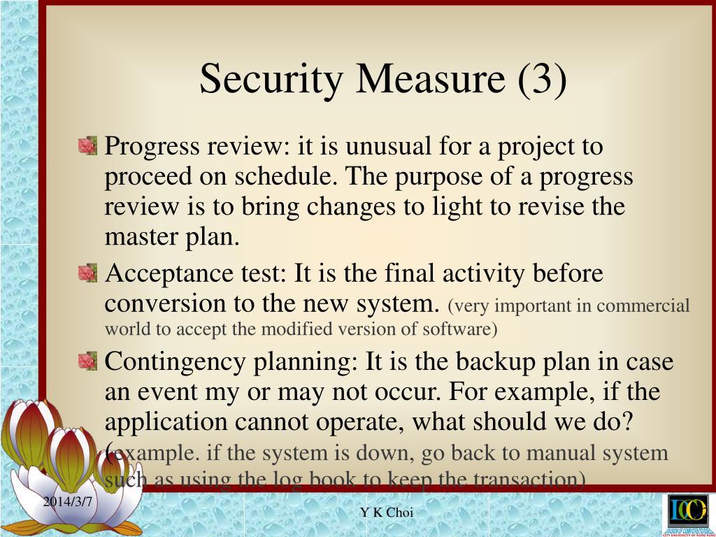 Security Measure (3)