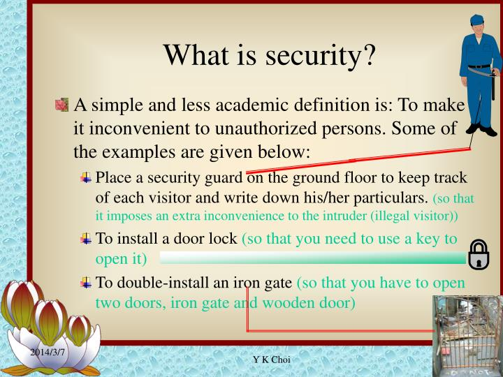 What is security