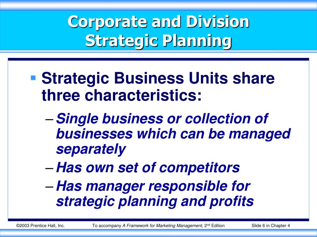 Corporate and Division