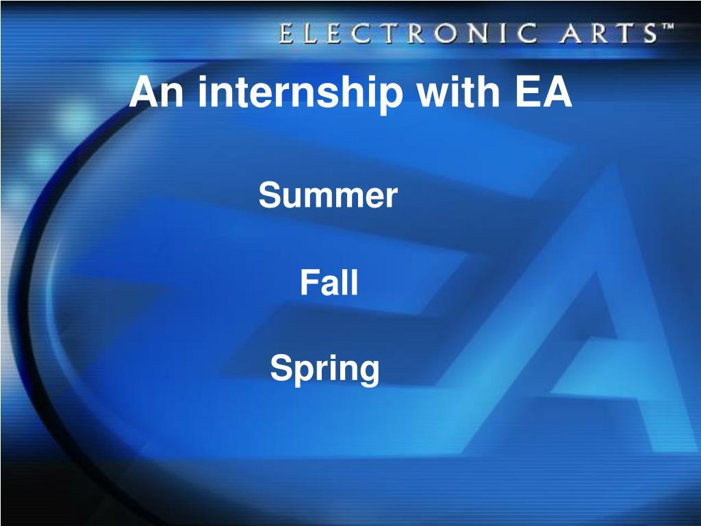 An internship with EA
