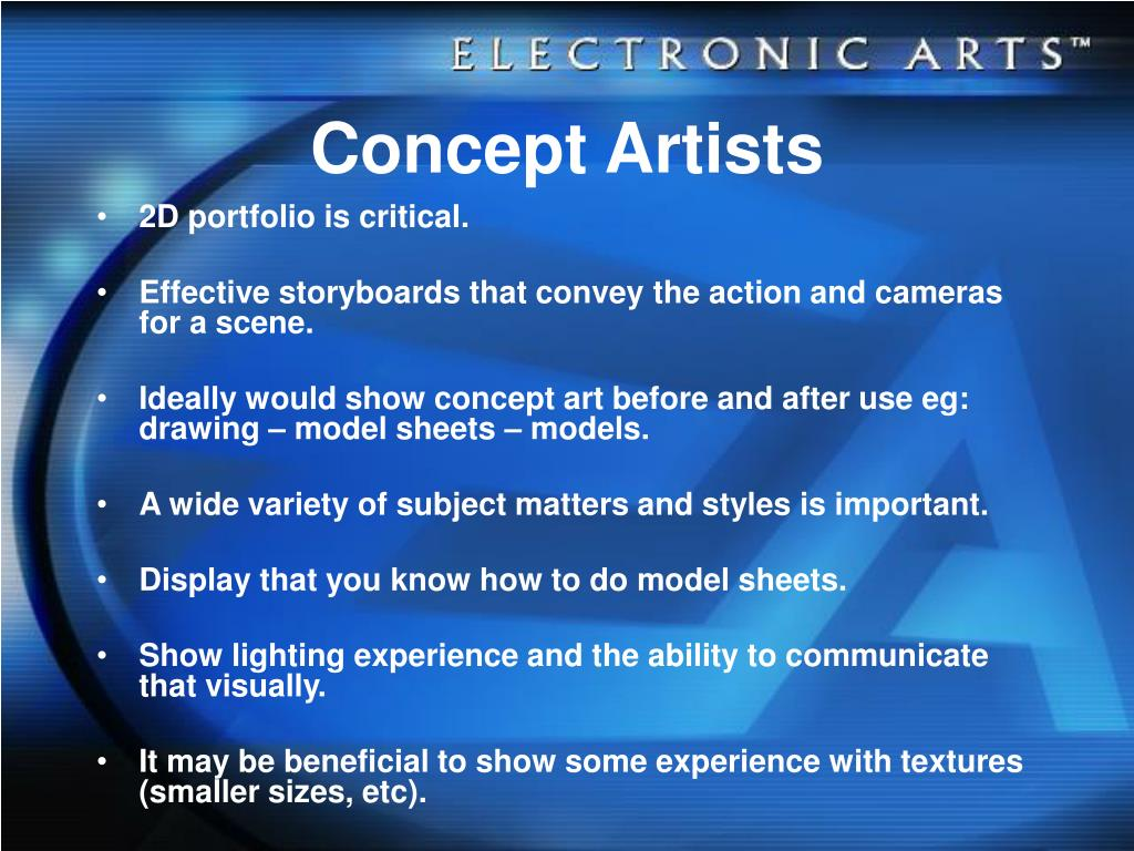 Concept Artists