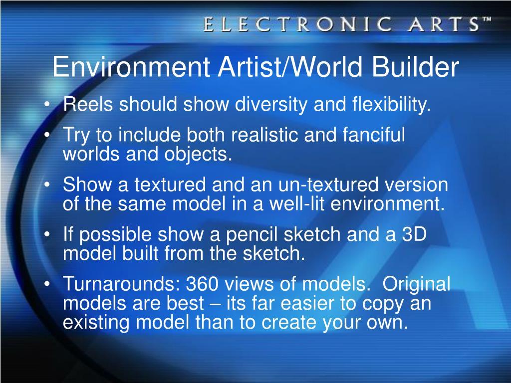 Environment Artist/World Builder