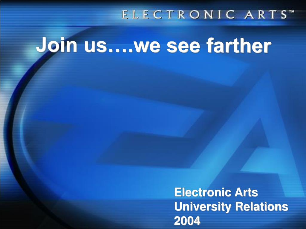 Join us….we see farther
