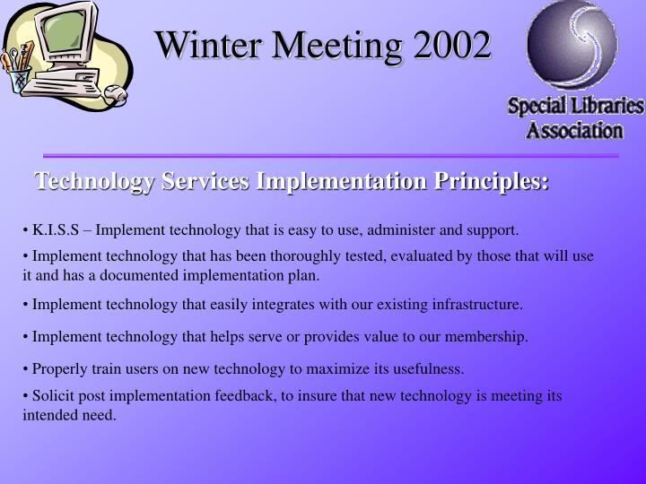Winter Meeting 2002