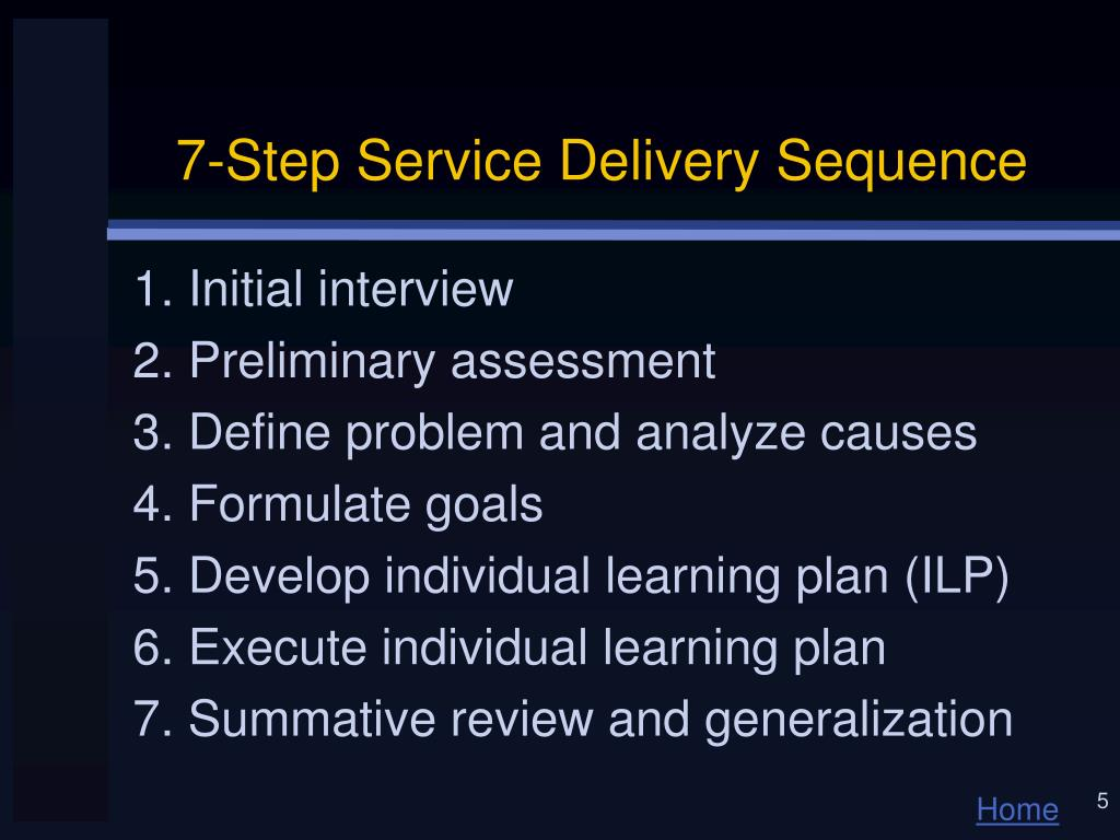7-Step Service Delivery Sequence