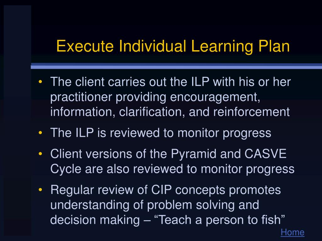 Execute Individual Learning Plan