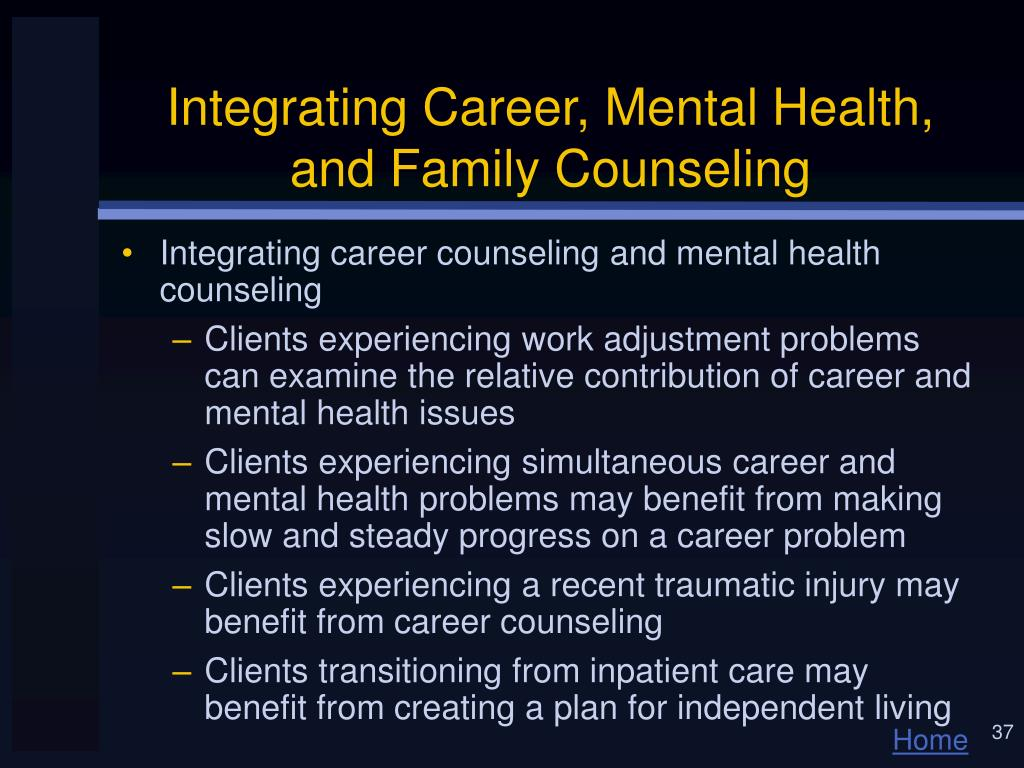 Integrating Career, Mental Health, and Family Counseling