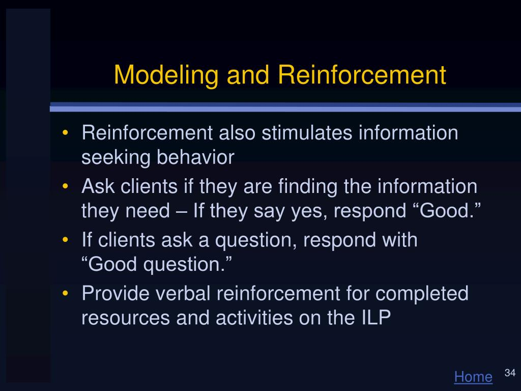 Modeling and Reinforcement