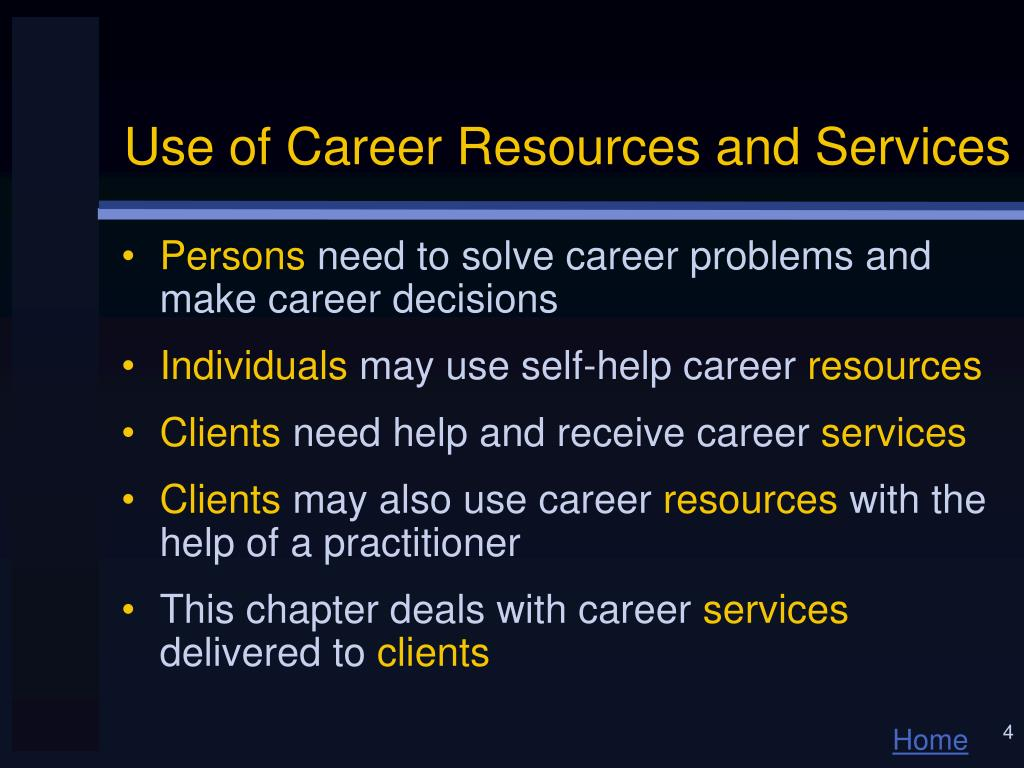 Use of Career Resources and Services