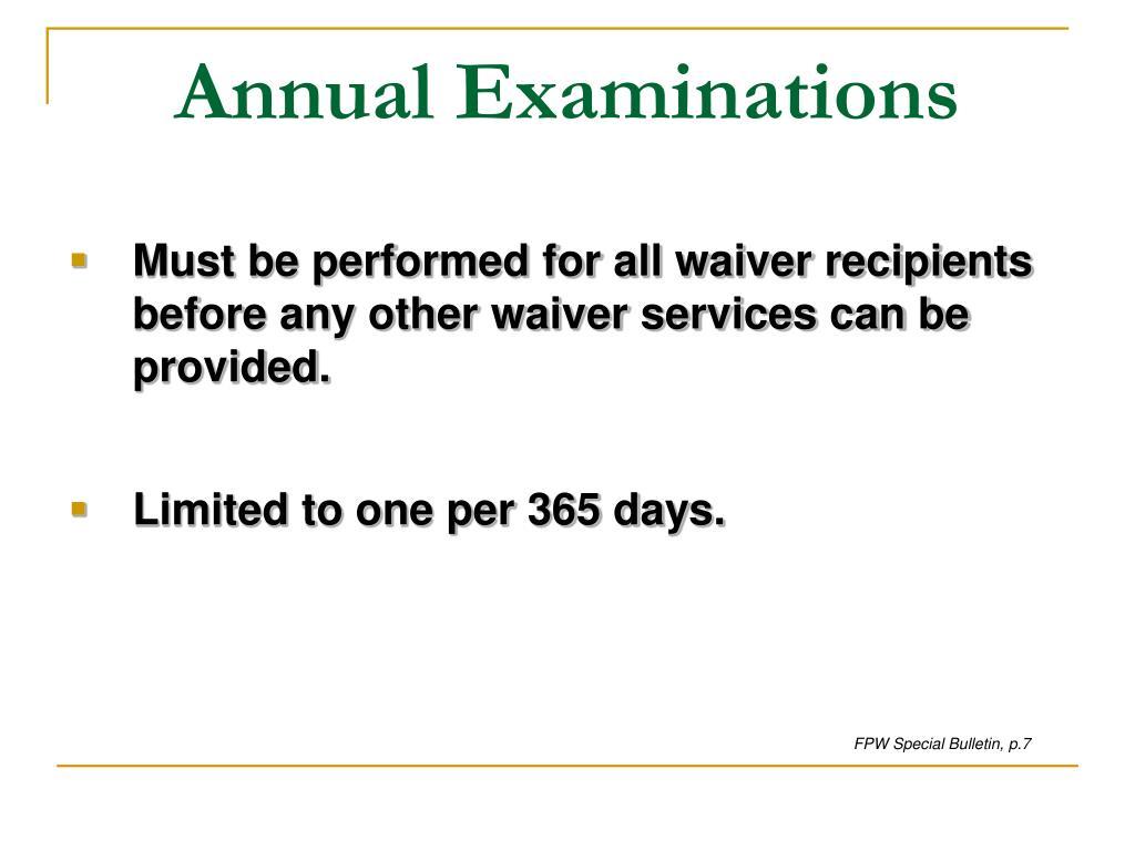 Annual Examinations