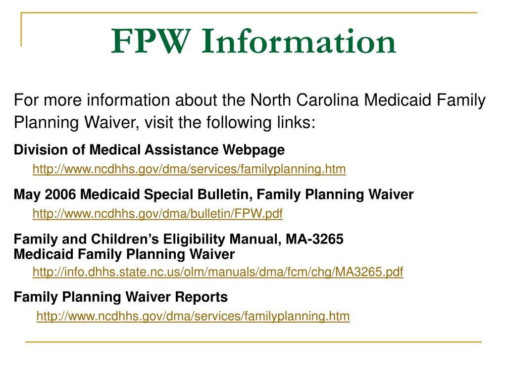 FPW Information