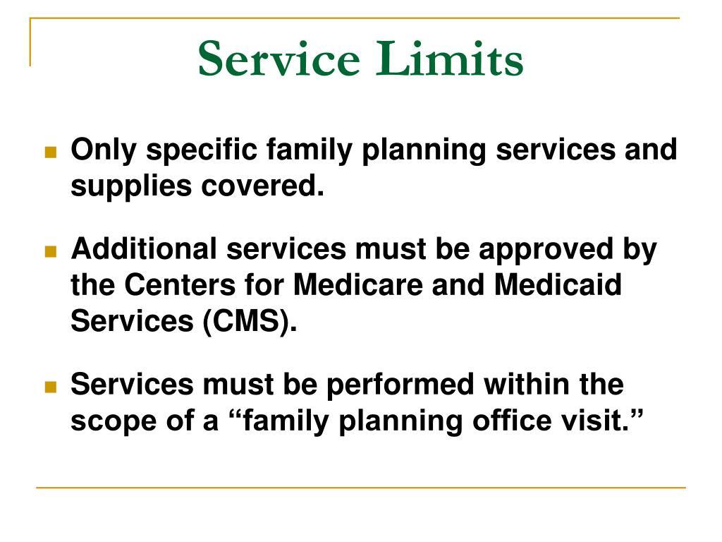 Service Limits