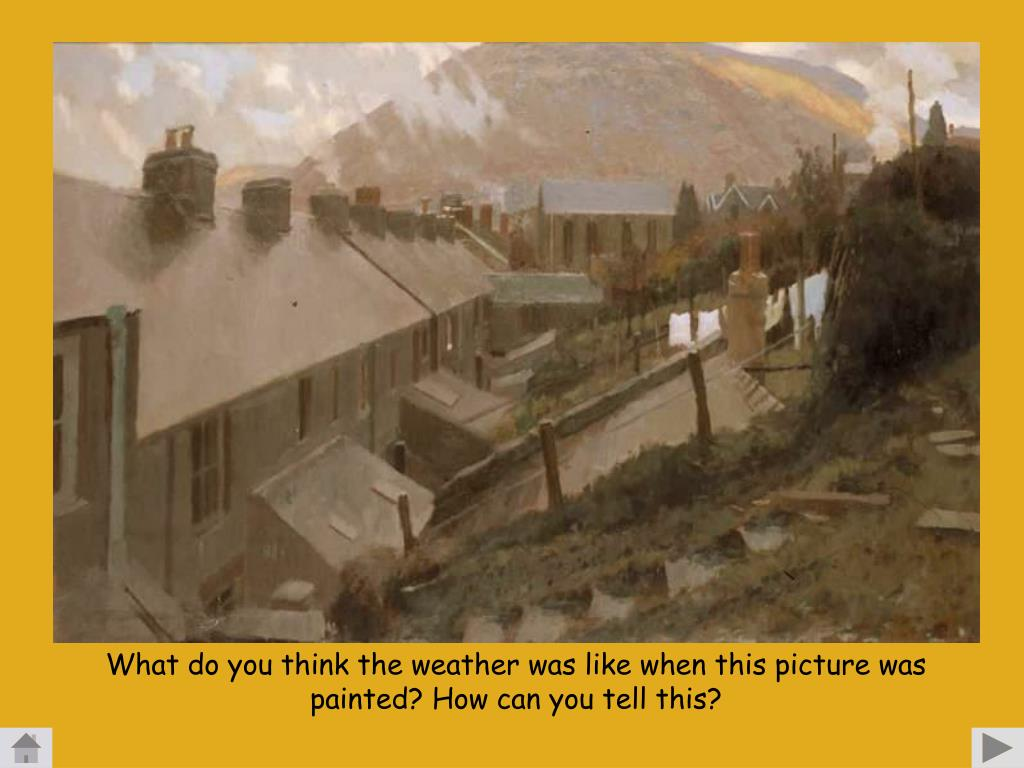 What do you think the weather was like when this picture was painted? How can you tell this?