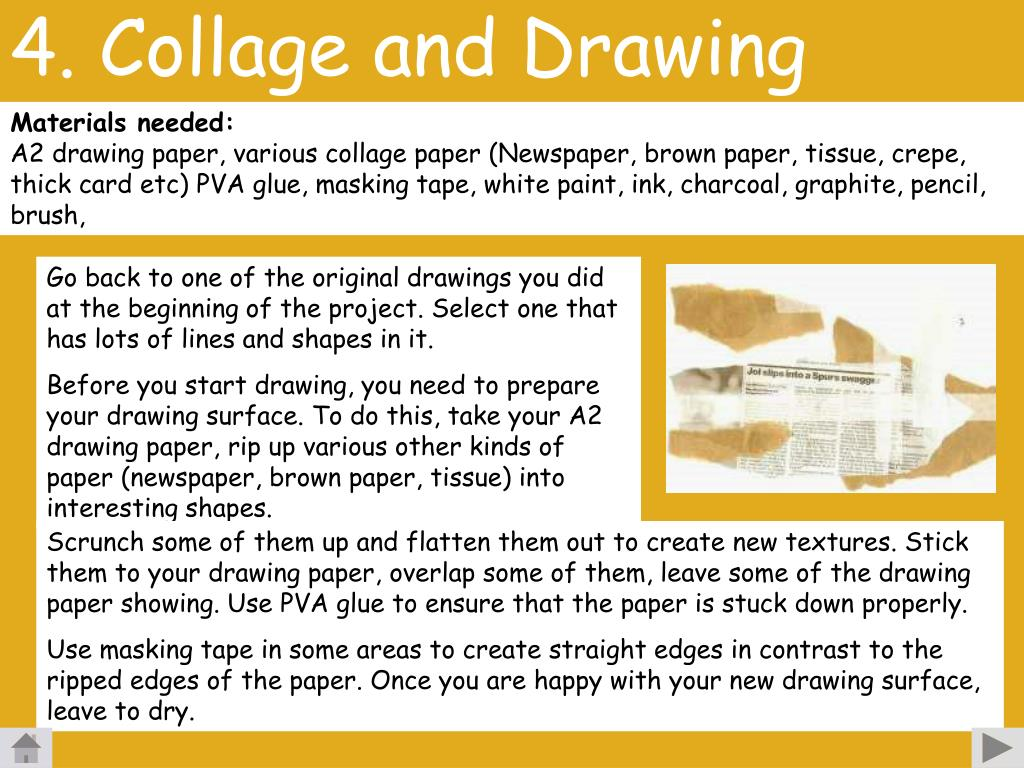 4. Collage and Drawing