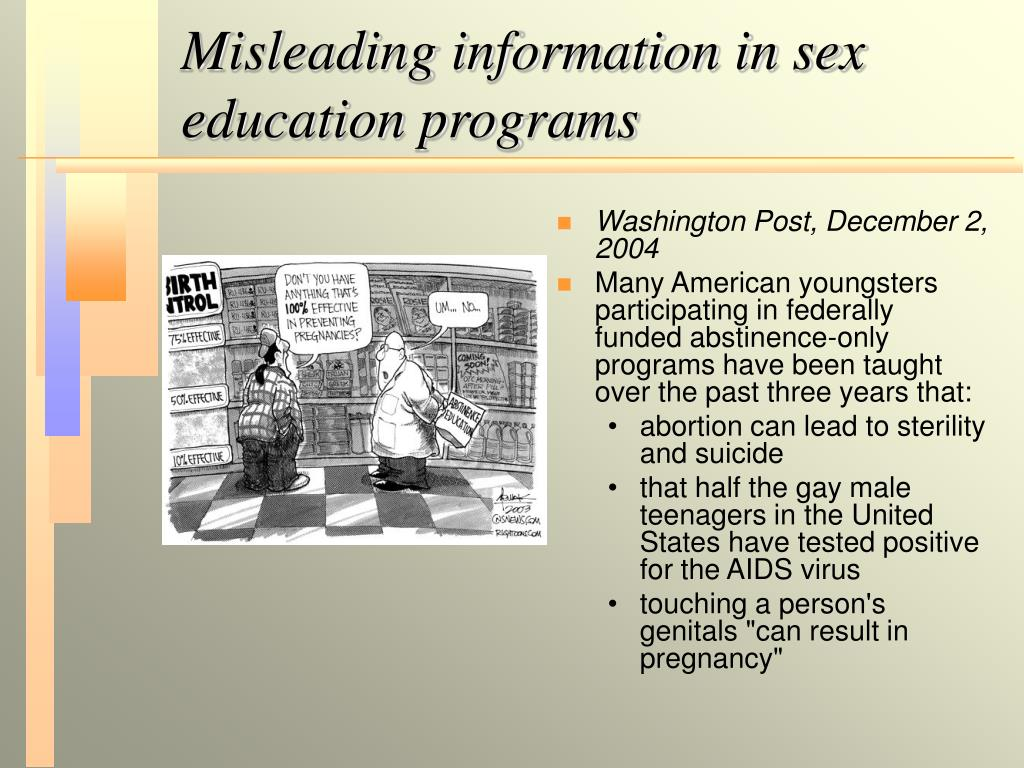 Misleading information in sex education programs