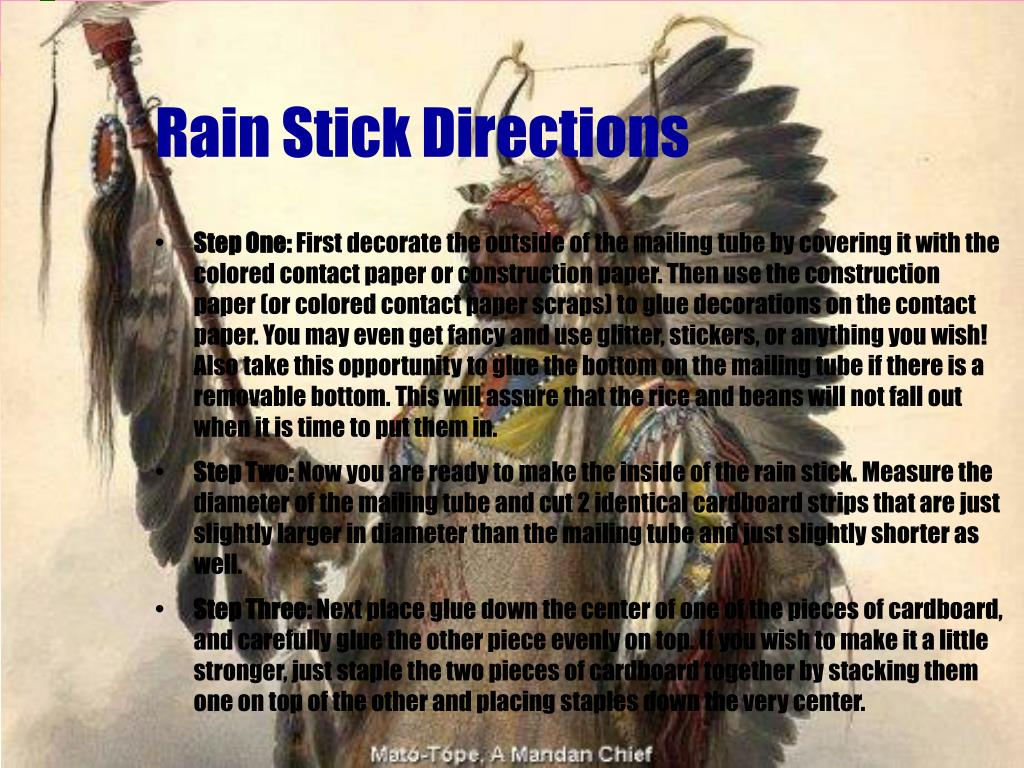 Rain Stick Directions