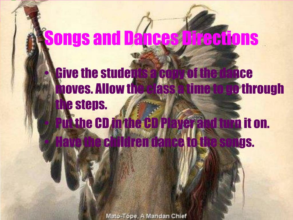 Songs and Dances Directions